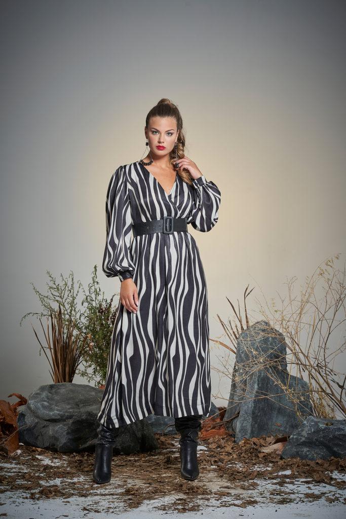abito animalier zebrato